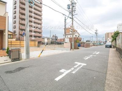【前面道路含む現地写真】名古屋市港区十一屋3丁目231【仲介手数料無料】新築一戸建て