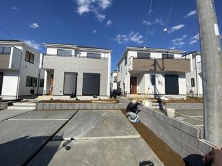 調整区域の開発の為敷地が広く全区画がゆったりしたプランです。