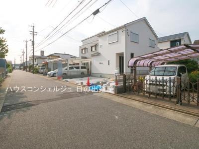 【前面道路含む現地写真】名古屋市中川区七反田町 新築一戸建て 1号棟