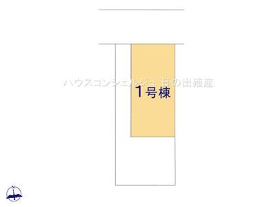 【区画図】名古屋市中川区七反田町 新築一戸建て 1号棟