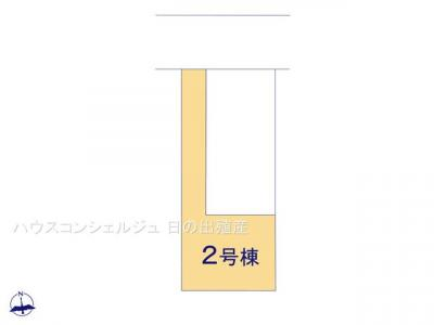 【区画図】名古屋市中川区七反田町 新築一戸建て 2号棟