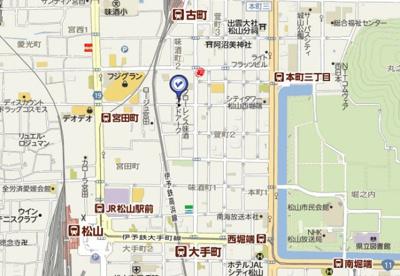 【地図】サザンコート味酒