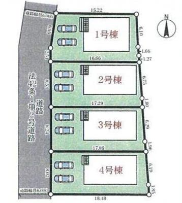 【区画図】三木市別所町近藤 第1 4号棟