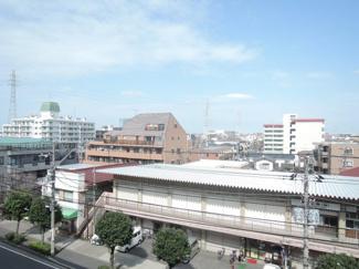 物件からの展望です。行徳駅前通りからの街並みがご覧いただけます。