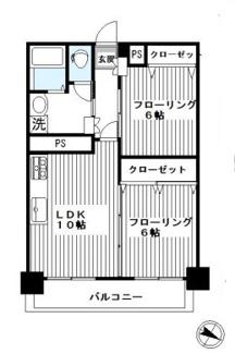 2LDK・それぞれのお部屋を広くとったtypeです!