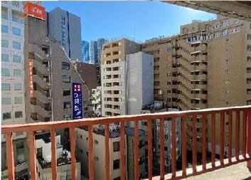 【バルコニー】日興パレス日本橋 8階 リ ノベーション済 角 部屋