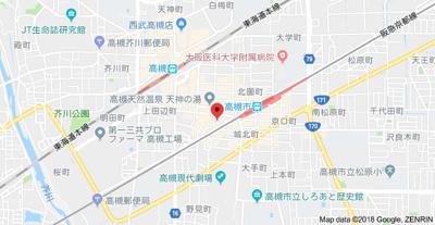 【地図】クラージュ高槻 (株)Roots