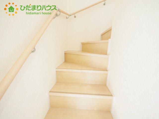 安心の手すり付き階段☆彡