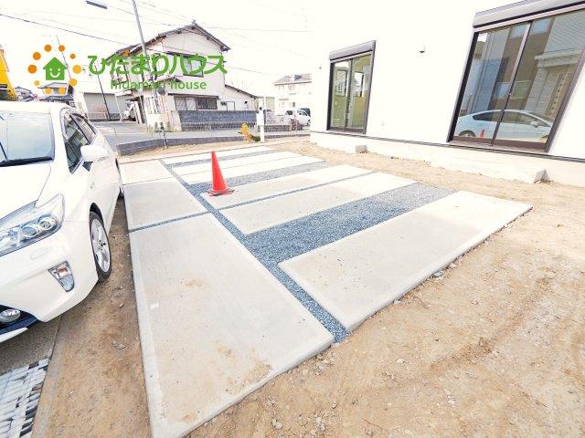 ご家族でお車に乗る方に!駐車場3台分あります!