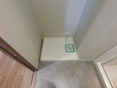 洗濯機置場の防水パンです。