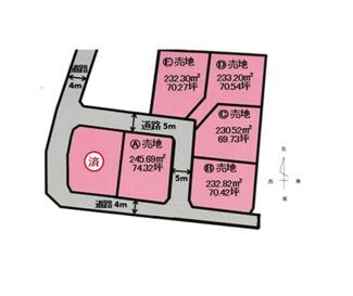 69.73坪から74.32坪の広めの区画