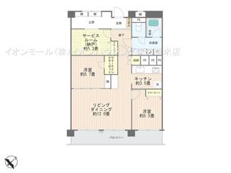 2SLDK+土間、価格3580万円、専有面積77.14m2、バルコニー面積12.15m2