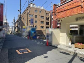 【前面道路含む現地写真】渋谷区円山町 建築条件なし土地