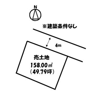 【区画図】横尾町2丁目売地