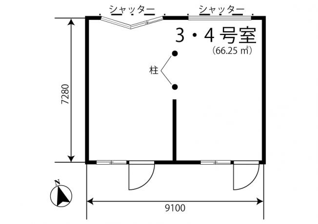 事務所や店舗として利用OKの66.25平米のスペースです♪