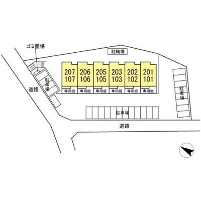 【区画図】仮)D-room名戸ケ谷