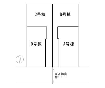 【区画図】神戸市垂水区坂上2丁目 B号地 新築戸建