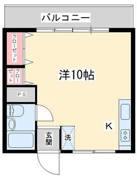 10帖の広さがある室内でゆとりのある間取りです。