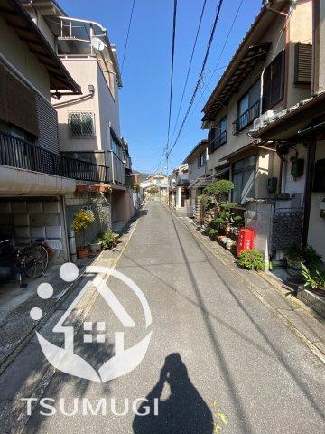 【前面道路含む現地写真】京都市山科区御陵岡ノ西町 中古戸建