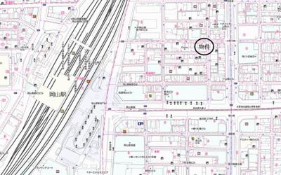 【地図】岡山駅前オフィス