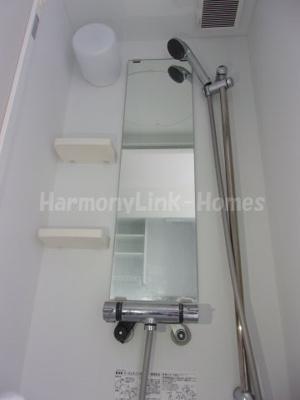 ハーモニーテラス大山西町のすっきりとしたシャワールームです