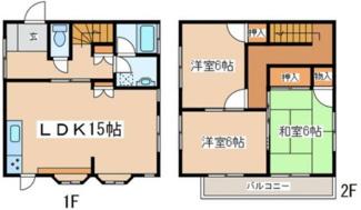 【間取り】相模原市緑区寸沢嵐一棟アパート