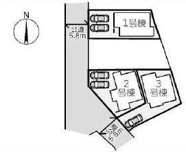 【区画図】箕面市稲5丁目 新築戸建 3号棟