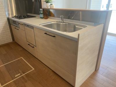 ガス仕様・食器洗い乾燥機付きのシステムキッチンです。