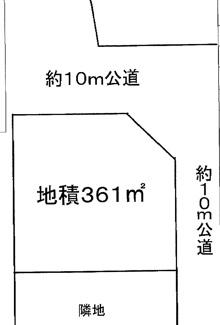 【土地図】川越市安比奈新田 資材置き場用地 敷地109坪