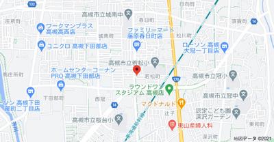【地図】シャトー若松
