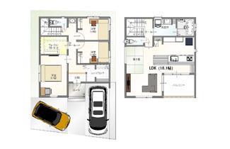 ・参考プラン価格:1850万(別途外構費100万)     ・建物価格は参考価格になります。 (弊社標準建物28坪で計算した価格です)       ・参考プラン延床面積:92.72㎡