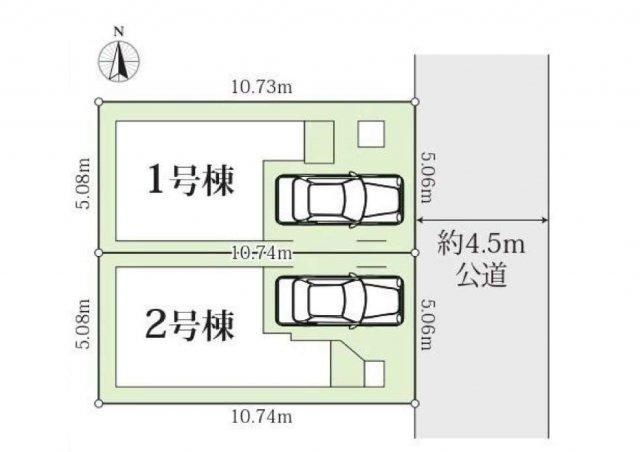 【区画図】堂々完成 LDK20帖の新築戸建