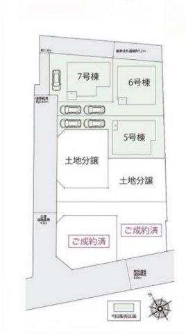 【区画図】板橋区西台1丁目 6,280万円 新築一戸建て【仲介手数料無料】