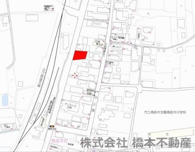 【地図】鳥居本町売地