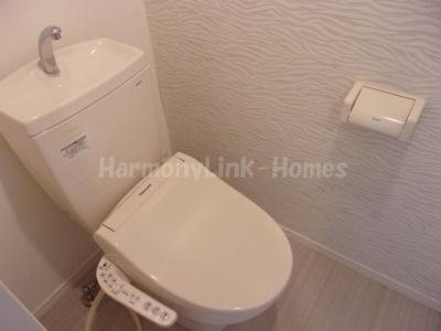 シャンブル東新宿のトイレもきれいです
