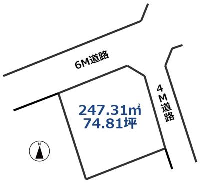 【外観】倉敷市笹沖 土地 売地