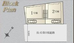 【区画図】横浜市鶴見区岸谷4丁目 新築戸建