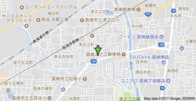 【地図】津之江ハイツ (株)Roots
