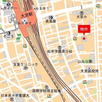 【地図】グランドミッドタワーズ大宮フォレストタワー