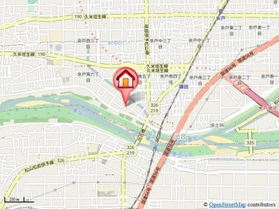 【地図】クレメント余戸A