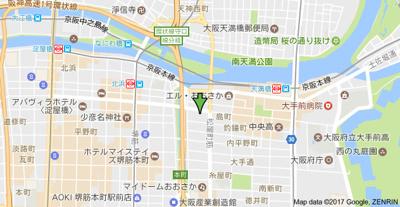【地図】パークキューブ北浜