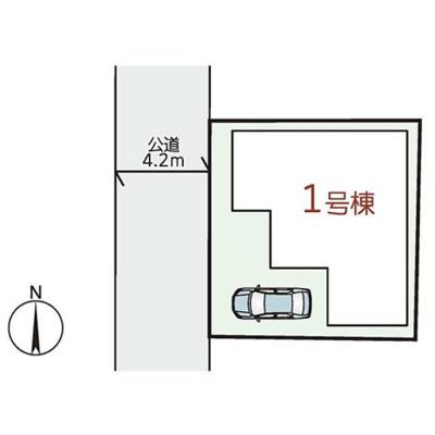 【区画図】箕面市箕面4丁目 新築戸建 1号棟