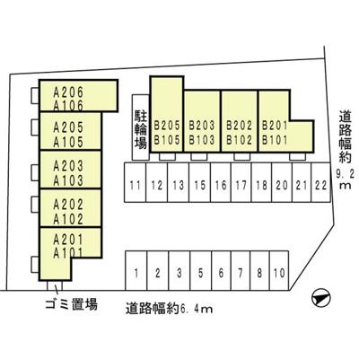【区画図】リビングタウン紀三井寺 B棟