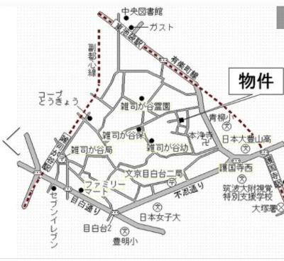【地図】マリポーサ雑司が谷D棟