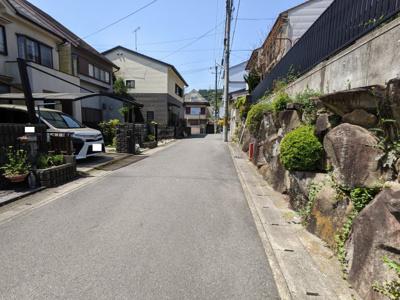 【前面道路含む現地写真】京都市山科区四ノ宮小金塚