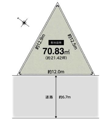 【区画図】吹田市藤が丘町 新築一戸建て
