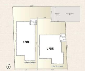 【区画図】立川市栄町5丁目 全2棟 1号棟 仲介手数料無料