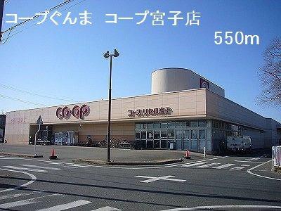 コープぐんま宮子店まで550m