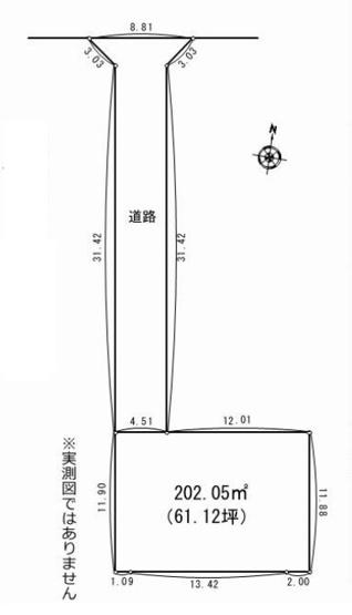【土地図】売地 平塚市四之宮1丁目