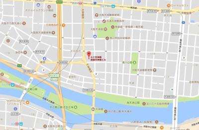 【地図】ルナ天神橋